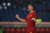 1st December 2017, Stadio Olimpico, Rome, Italy; Serie A football. AS Roma versus Spal;  Goal celebration from Lorenzo Pellegrini Roma