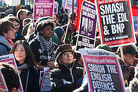UAF protest and victory rally in Walthamstow London 27-10-12 Unite against Fascism and We Are Waltham Forest hold a victory rally after the racist English Defence League (EDL) fail to show up in Walthamstow after threatening a protest in the area. There were suffles with Police when they defied a ban on marching.