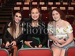 Orla McEvoy, Beth Reddy and Aoife Howard at the Lipsync for Hannah show in the TLT. Photo:Colin Bell/pressphotos.ie