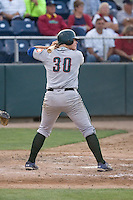 August 4, 2009: Boise Hawks' Justin Bour at-bat during a Northwest League game against the Everett AquaSox at Everett Memorial Stadium in Everett, Washington.