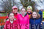 Ruth Lynch, Sharon Condon, Anna, Caroline and Jane Lynch at the Tralee Parkrun's 3rd birthday run in the Tralee town park on Saturday morning last.