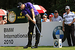Ross Fisher tees off on the 17th hole during the Final Day of The BMW International Open Munich at Eichenried Golf Club, 27th June 2010 (Photo by Eoin Clarke/GOLFFILE).