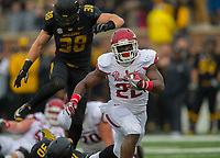 NWA Democrat-Gazette/JASON IVESTER<br /> Arkansas running back Rawleigh Williams (22) carries against Missouri on Friday, Nov. 25, 2016, at Faurot Field in Columbia, Mo., during the second quarter.
