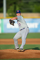Kingsport Mets starting pitcher Jordan Humphreys (10) in action against the Burlington Royals at Burlington Athletic Stadium on July 18, 2016 in Burlington, North Carolina.  The Royals defeated the Mets 8-2.  (Brian Westerholt/Four Seam Images)