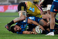 Blues' Ofa Tuungafasi in action during the Super Rugby - Hurricanes v Blues at Westpac Stadium, Wellington, New Zealand on Saturday 7 July 2018.<br />