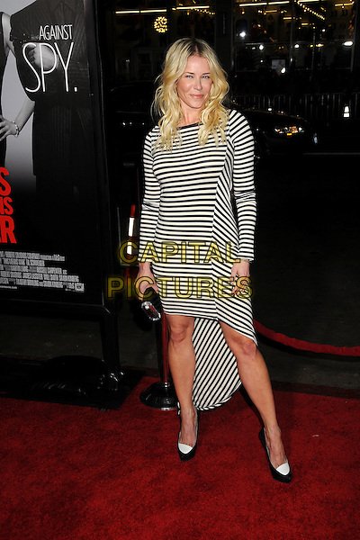 "Chelsea Handler.""This Means War"" Los Angeles Premiere held at Grauman's Chinese Theatre, Hollywood, California, USA..February 8th, 2012.full length dress shoes clutch bag white blue black striped stripes .CAP/ADM/BP.©Byron Purvis/AdMedia/Capital Pictures."
