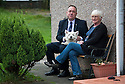 Another mutt meet and greet for First Minister Alex Salmond with Roxy the Scotty and owner Marge Thomson, 73, in Ellon.