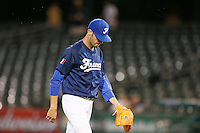 21 September 2012: Matthieu Brelle-Andrade walks back to the dugout during France vs South Africa tie game 2-2, rain delayed at the end of the 9th inning at 1 AM, during the 2012 World Baseball Classic Qualifier round, in Jupiter, Florida, USA. Game to resume 22 September 2012 at noon.