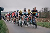 Yves LAMPAERT (BEL/Deceuninck-Quick Step) controlling the lead group<br /> <br /> 74th Omloop Het Nieuwsblad 2019 <br /> Gent to Ninove (BEL): 200km<br /> <br /> ©kramon
