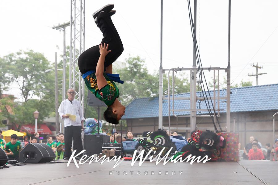 Kung Fu, Chinese Martial Artist, Dragon Fest 2015, Chinatown, Seattle, Washington, USA