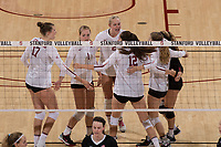 Stanford, CA - September 15, 2017: Stanford beats Pacific 3-0 at Maples Pavilion.