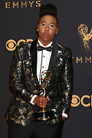 LOS ANGELES - SEP 17:  Lena Waithe at the 69th Primetime Emmy Awards - Press Room at the JW Marriott Gold Ballroom on September 17, 2017 in Los Angeles, CA