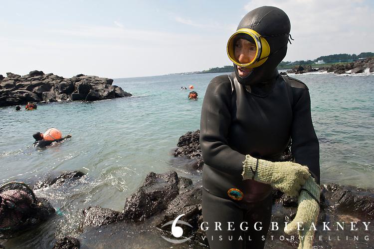 Women Dive for Shellfish - JeJu Island - South Korea