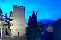 The Tower. Domaine La Tour Boisee. In Laure-Minervois. Minervois. Languedoc. France. Europe.