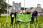 Minister Kevin Boxer Moran centre presenting a green flag to Derrynane House & Park on Friday pictured here l-r;  Chris O'Neill(OPW Parks Superintendent), James O'Shea(Foreman at Derrynane Park), Mary Lyne(Guide), Tony O'Shea(Guide), Anne Marie Moran(Guide), Breda Casey(Admin OPW), Tim Brosnan(Grounds Staff), Michael Moran(Grounds Staff), Minister Kevin Boxer Moran and John Moran(Grounds Staff).