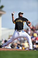 Pittsburgh Pirates pitcher Deolis Guerra (64) during a Spring Training game against the New York Yankees on March 5, 2015 at McKechnie Field in Bradenton, Florida.  New York defeated Pittsburgh 2-1.  (Mike Janes/Four Seam Images)