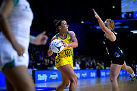 Kelsey Browne looks for support during the Constellation Cup Series international netball match between the New Zealand Silver Ferns and Samsung Australian Diamonds at TSB Bank Arena in Wellington, New Zealand on Thursday, 18 October 2018. Photo: Dave Lintott / lintottphoto.co.nz