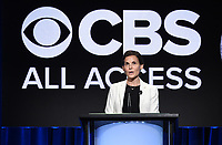 "BEVERLY HILLS - AUGUST 1: CBS All Access Executive VP of Original Content Julie McNamara onstage during the ""CBS All Access Executive"" panel at the CBS All Access portion of the Summer 2019 TCA Press Tour at the Beverly Hilton on August 1, 2019 in Los Angeles, California. (Photo by Frank Micelotta/PictureGroup)"