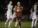 26/01/2010  Copyright  Pic : James Stewart.sct_jspa08_stenhousemuir_v_dunfermline  .:: STENNY'S KEVIN BRADLEY CELEBRATES SCORING TH EQUALISER :: .James Stewart Photography 19 Carronlea Drive, Falkirk. FK2 8DN      Vat Reg No. 607 6932 25.Telephone      : +44 (0)1324 570291 .Mobile              : +44 (0)7721 416997.E-mail  :  jim@jspa.co.uk.If you require further information then contact Jim Stewart on any of the numbers above.........