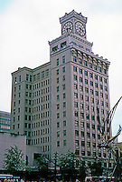 "Vancouver: Vancouver Block. Park & Fee 1912. A ""somewhat homely"" 14 story steel frame building, about 250 ft. tall. 736 Granville St. Photo '86."