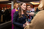 BRUSSELS - BELGIUM - 12 December 2019 -- Socialists and Democrats (PES) Pre-EU Council Meeting with Heads of State. -- Sanna Marin, Prime Minister of Finland arriving to the meeting and talking to the media with Tytti Tuppurainen, Europe Minister of Finland. -- PHOTO: Juha ROININEN / EUP-IMAGES