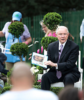 Washington DC, April 17, 2017, USA: Attorney General Jeff Sessions reads a book to some of the visitors participating in the 139th Annual White House Easter Egg roll. President Donald J Trump and First Lady Melania Trump welcome visitors to the South Lawn of the White House for the 139th Annual Easter Egg roll and event in Washington DC. <br /> CAP/MPI/LYN<br /> &copy;LYN/MPI/Capital Pictures