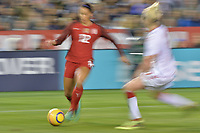 San Diego, CA - Sunday January 21, 2018: Lynn Williams prior to an international friendly between the women's national teams of the United States (USA) and Denmark (DEN) at SDCCU Stadium.