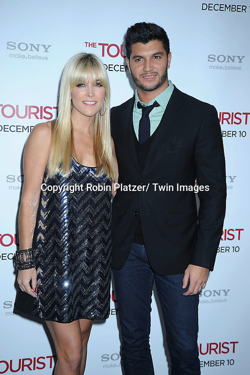 """Tinsley Mortimer and guest at The World Premiere of """"The Tourist"""" on December 6, 2010 at The Ziegfeld Theatre in New York City. The film stars Angelina Jolie and Johnny Depp."""