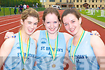 Medal winners Nicola O'Mahony, Orla McCarthy and Lisa Brennan St Brendan's AC at the Kerry AAI Championships in Castleisland on Sunday   Copyright Kerry's Eye 2008