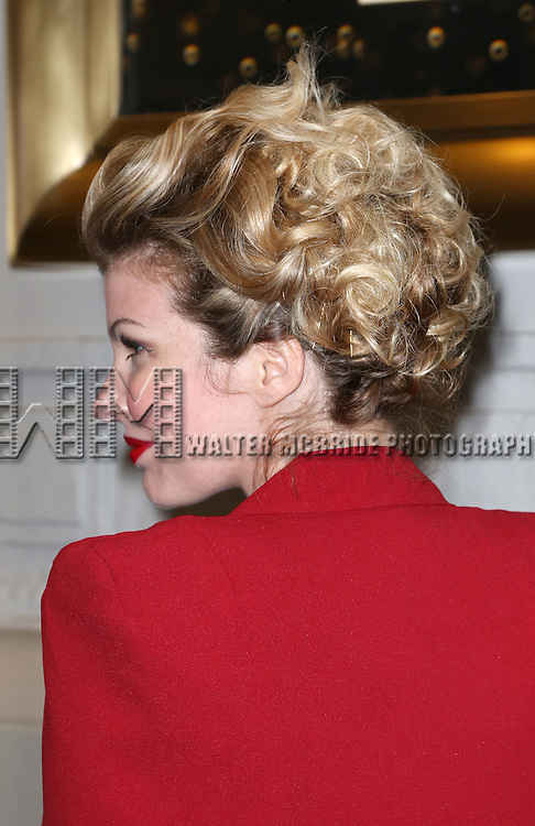 Emily West, hair detail, attends the Broadway Opening Night Performance of  'Living on Love'  at  The Longacre Theatre on April 20, 2015 in New York City.
