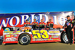 Sep 12, 2009; 6:18:08 PM; Rossburg, OH., USA; The 39th annual running of the World 100 Dirt Late Models racing for the Globe trophy at the Eldora Speedway.  Mandatory Credit: (thesportswire.net)
