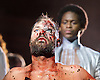 Jesus Christ Superstar <br /> by Tim Rice &amp; Andrew Lloyd Webber <br /> at The Regent's Park Open Air Theatre, London, Great Britain <br /> press photocall<br /> 19th July 2016 <br /> <br /> Declan Bennett as Jesus <br /> <br /> Tyrone Huntley as Judas <br /> <br /> <br /> <br /> <br /> Photograph by Elliott Franks <br /> Image licensed to Elliott Franks Photography Services