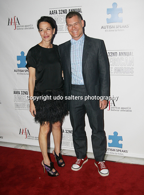 Designer Cynthia Rowley and Designer John Bartlett attend The 32nd Annual AAFA American Image Awards sponsored by the American Apparel & Footwear Association benefitting Autism Speaks at the Grand Hyatt Hotel at Grand Central, New York