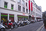AYBRED Motorbikes outside Foyles bookshop London