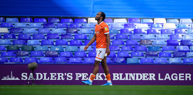 Blackpool's Nathan Delfouneso walks off the pitch at the end of the game<br /> <br /> Photographer Chris Vaughan/CameraSport<br /> <br /> The EFL Sky Bet League One - Coventry City v Blackpool - Saturday 7th September 2019 - St Andrew's - Birmingham<br /> <br /> World Copyright © 2019 CameraSport. All rights reserved. 43 Linden Ave. Countesthorpe. Leicester. England. LE8 5PG - Tel: +44 (0) 116 277 4147 - admin@camerasport.com - www.camerasport.com