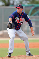 Minnesota Twins Tyler Robertson #59 during a minor league spring training intrasquad game at the Lee County Sports Complex on March 25, 2012 in Fort Myers, Florida.  (Mike Janes/Four Seam Images)