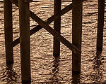 May 5, 2018. Riegelwood, North Carolina.<br /> <br /> A pier on he Cape Fear River, 50 miles downstream from the Chemours plant, where the city of Wilmington water intake pipes are located. <br /> <br /> The Chemours Company, a spin off from DuPont, manufactures many chemicals at its plant in Fayetteville, NC. One of these, commonly referred to as GenX, is part of the process of teflon manufacturing. Chemours has been accused of dumping large quantities of GenX into the Cape Fear River and polluting the water supply of city's down river and allowing GenX to leak into local aquifers.