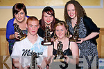 SPECIAL: The five youths who were presented with the kerry Garda Special Youths Awards on Friday night in the Brandon Hotel, Tralee. Front l-r: Robert O'Shea (Tralee) and Louise Murphy (overall winner (Listellick). Back l-r: Niamh Sheehan, lisa McDonagh and Julieanne O'Leary..........