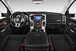 Stock photo of straight dashboard view of a 2017 Ram 3500 Laramie 4 Door Van