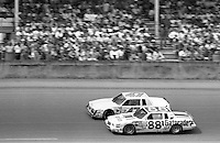 Rusty Wallace 88 Ron Bouchard 47 Daytona 500 at Daytona International Speedway in Daytona Beach, FL on February  1984. (Photo by Brian Cleary/www.bcpix.com)