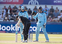 Jos Buttler (England) waits for the umpire decision following his stumping of Trent Boult (New Zealand) during England vs New Zealand, ICC World Cup Cricket at The Riverside Ground on 3rd July 2019
