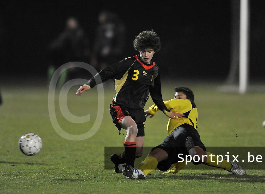 Belgium Dames U19 - selectie brabant jongens U15 :  Tinne Van Den Bergh.foto DAVID CATRY / Vrouwenteam.be