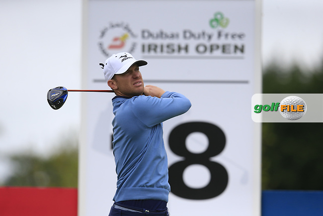 Magnus A Carlsson (SWE) tees off the 18th tee during Thursday's Round 1 of the 2016 Dubai Duty Free Irish Open hosted by Rory Foundation held at the K Club, Straffan, Co.Kildare, Ireland. 19th May 2016.<br /> Picture: Eoin Clarke | Golffile<br /> <br /> <br /> All photos usage must carry mandatory copyright credit (&copy; Golffile | Eoin Clarke)