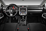 Straight dashboard view of a 2009 Volkswagen Scirocco.