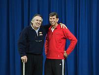 21-02-2014, Netherlands, Eemnes,  Michiel Schapers(NED), Coach and Martin Siemek(L)<br /> Photo: Henk Koster