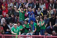 Volleyball 1. Bundesliga  Saison 2017/2018 TV Rottenburg - Hypo Tirol Alpen Volleys Haching     27.12.2017 Alpen Volleys Haching Fans machen Stimmung in der Paul Horn Arena
