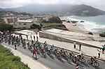 The peloton during Stage 17 of the La Vuelta 2018, running 157km from Getxo to Balc&oacute;n de Bizkaia, Spain. 12th September 2018.                   <br /> Picture: Unipublic/Photogomezsport | Cyclefile<br /> <br /> <br /> All photos usage must carry mandatory copyright credit (&copy; Cyclefile | Unipublic/Photogomezsport)
