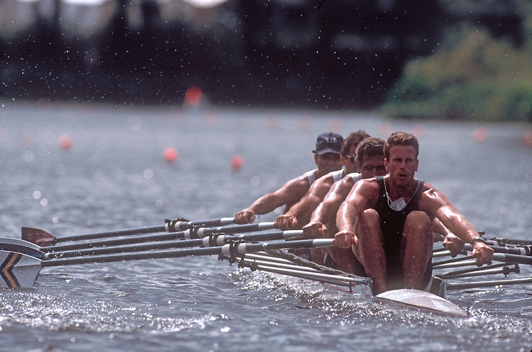 Rowing competition, Men's quad, rowing regatta, Augusta, Georgia, US Masters National Rowing Regatta,.