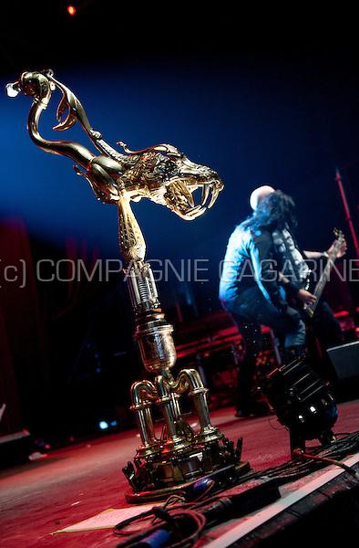 Concert of the Belgian heavy metal band Channel Zero at the Crammerock festival, in Stekene (Belgium, 06/09/2014)