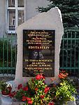 Tablica upamiętniająca pobyt Edyty Stain (1912 r.)  w budynku należącym do Si&oacute;str Elżbietanek, Duszniki-Zdr&oacute;j, Polska<br /> A plaque commemorating the stay of Edith Stein (1912) in a building belonging to the Elisabeth Sisters in Duszniki-Zdr&oacute;j, Poland